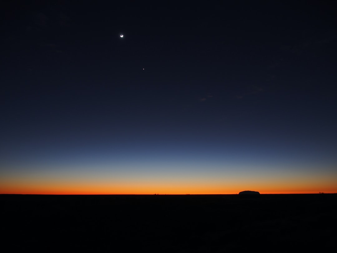 Moon Stars Twilight Uluru