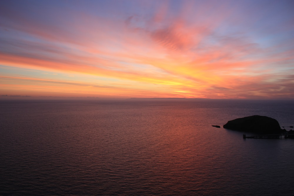 body of water during horizon