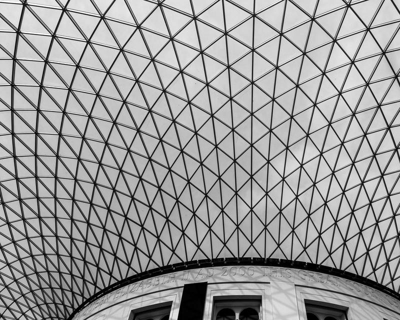 British Museum ceiling photo by Mika