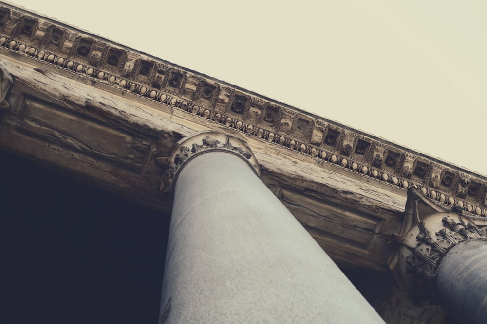gray pillars