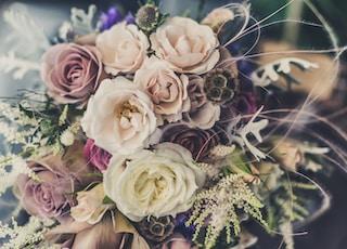 bouquet assorted-color flowers