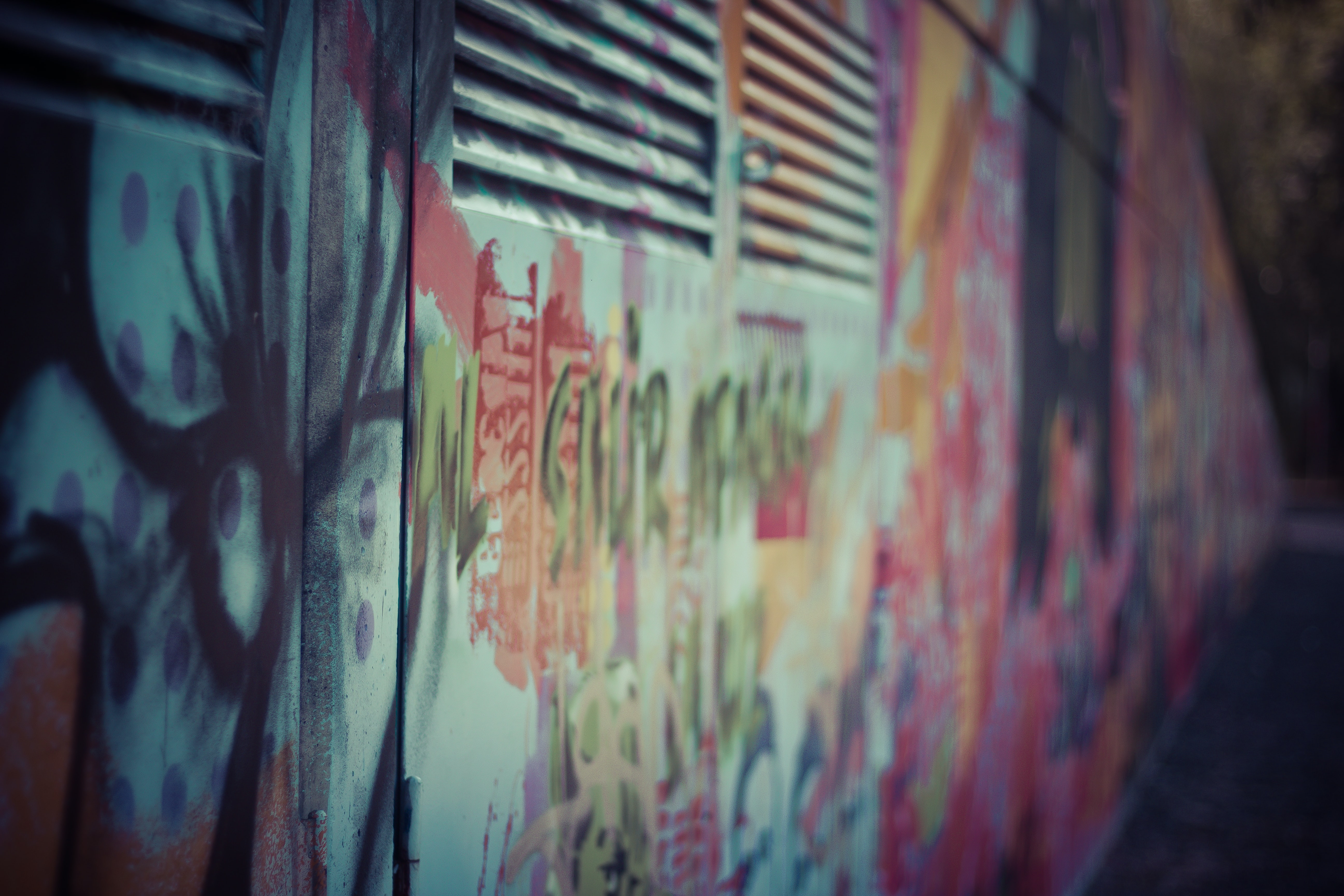 closeup photography of multicolored wall