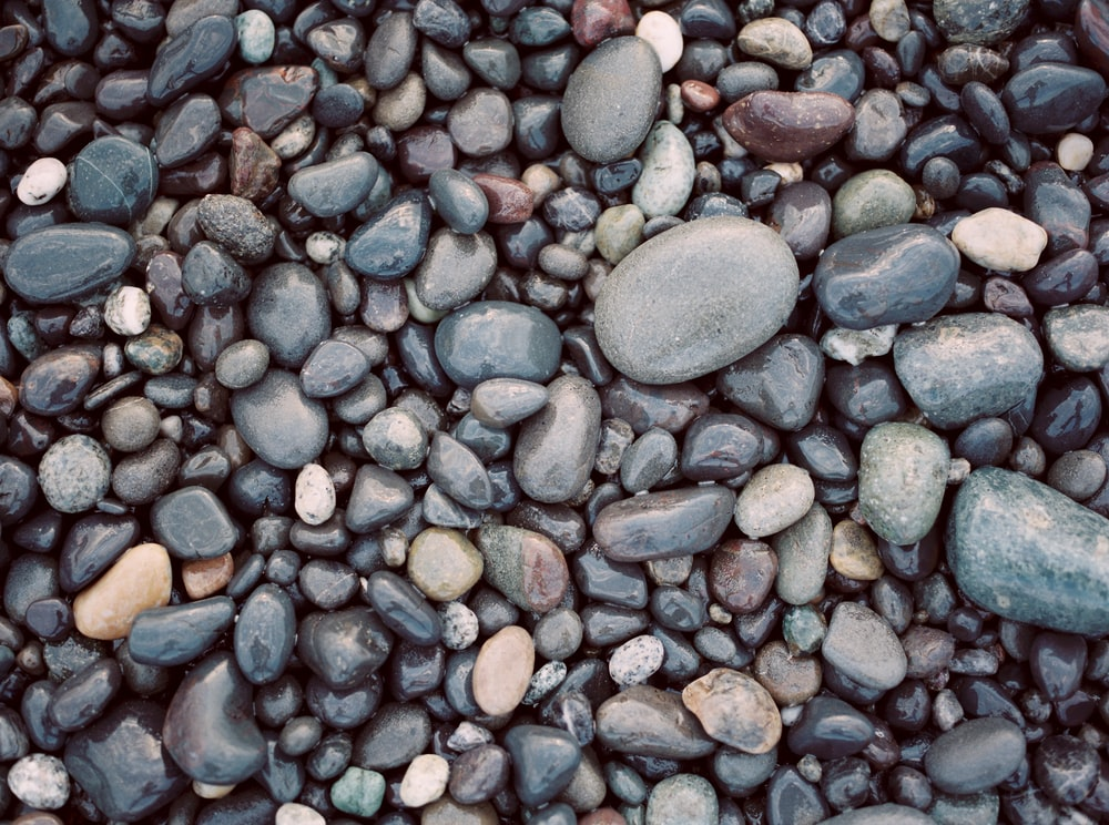 assorted-color pebbles