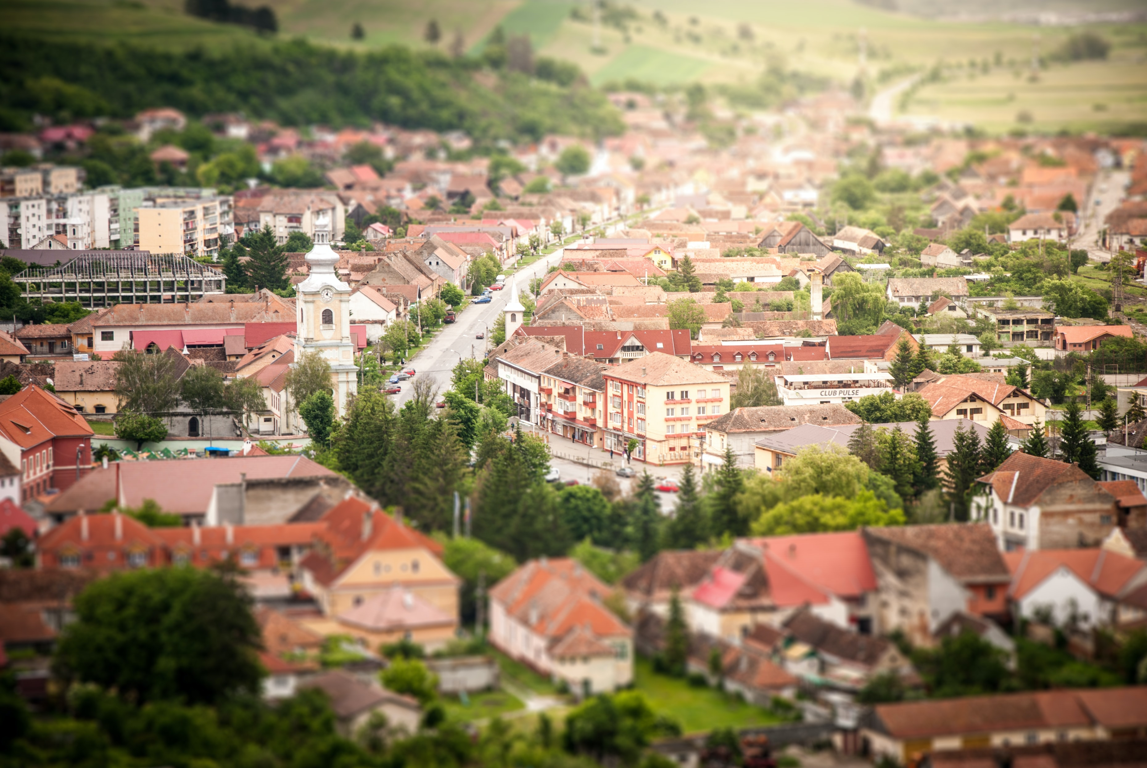 bird's eye view of photography of town