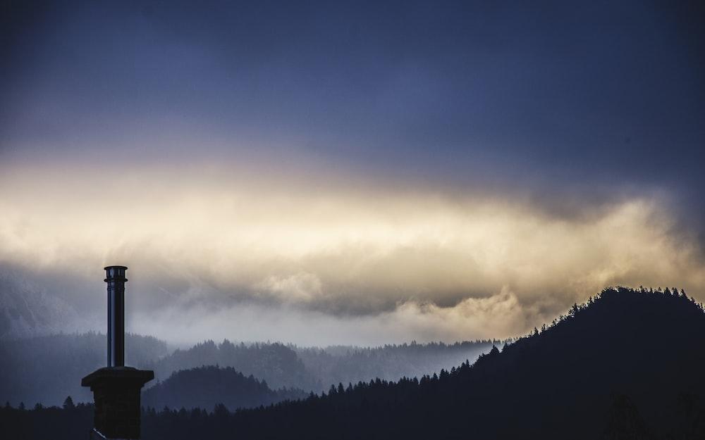lighthouse on mountain