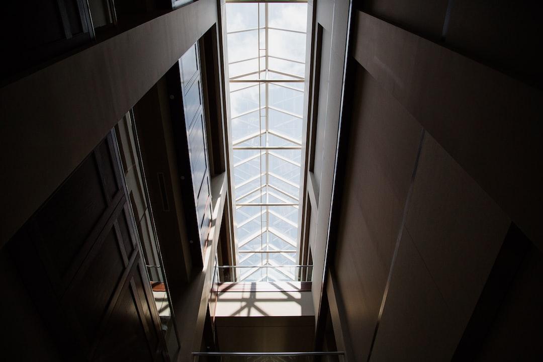 Long skylight in dark room