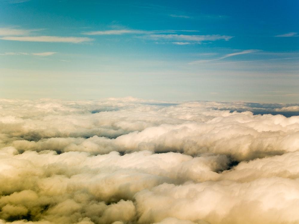 white cloudy sky under blue sky