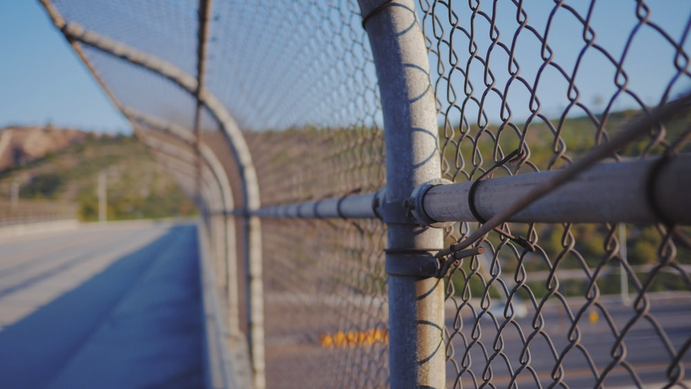 gray cyclone fence