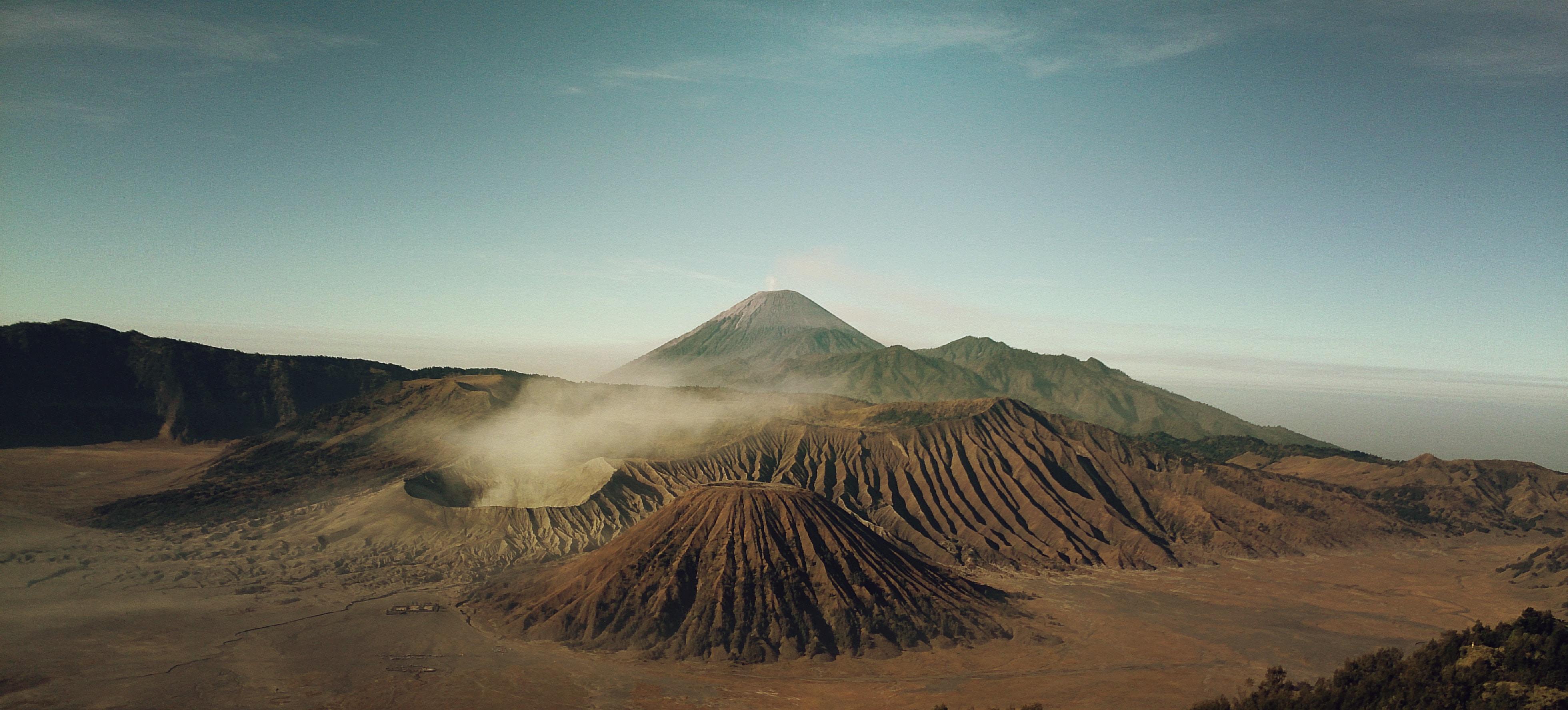 high angle view of volcano