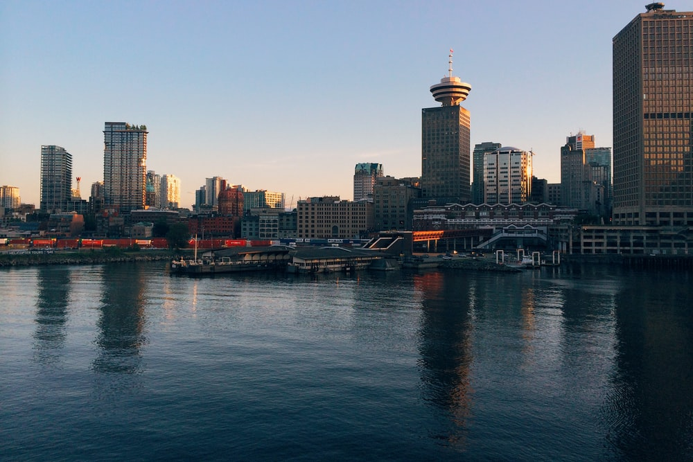 High-rises near a waterfront in Vancouver