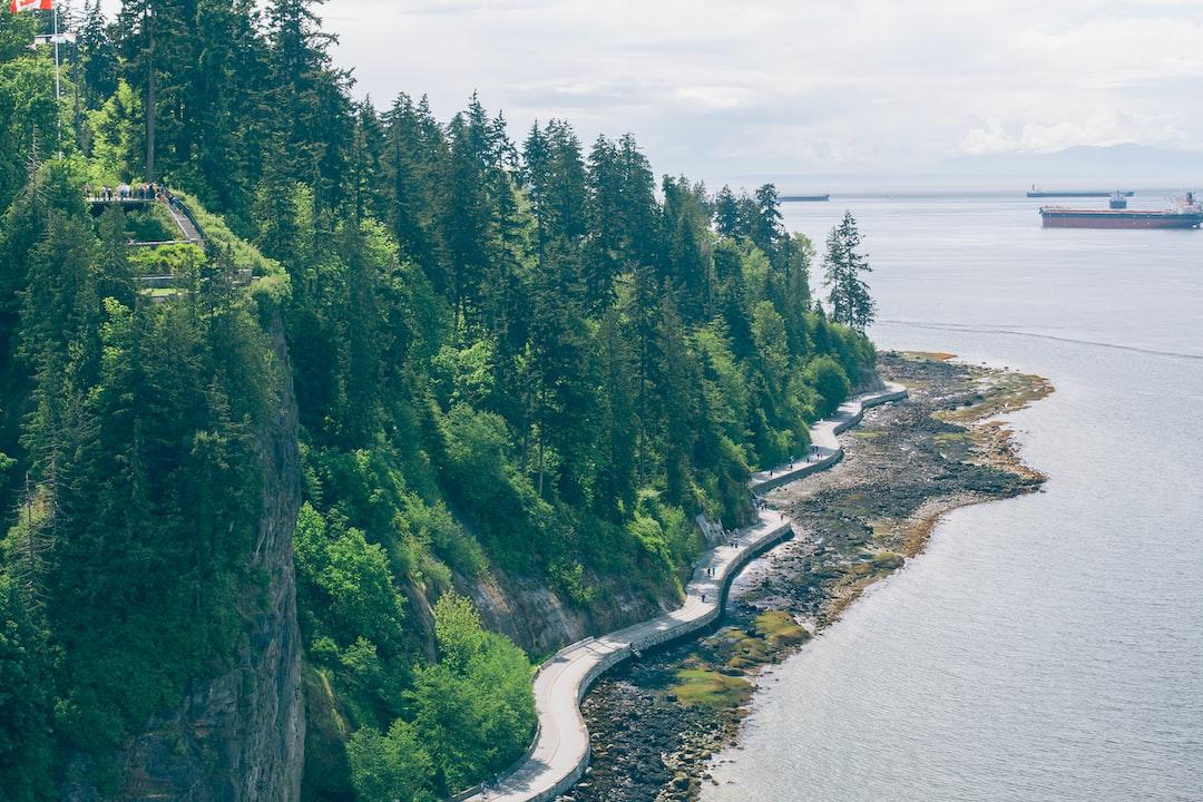 Tourists on the Canadian coast