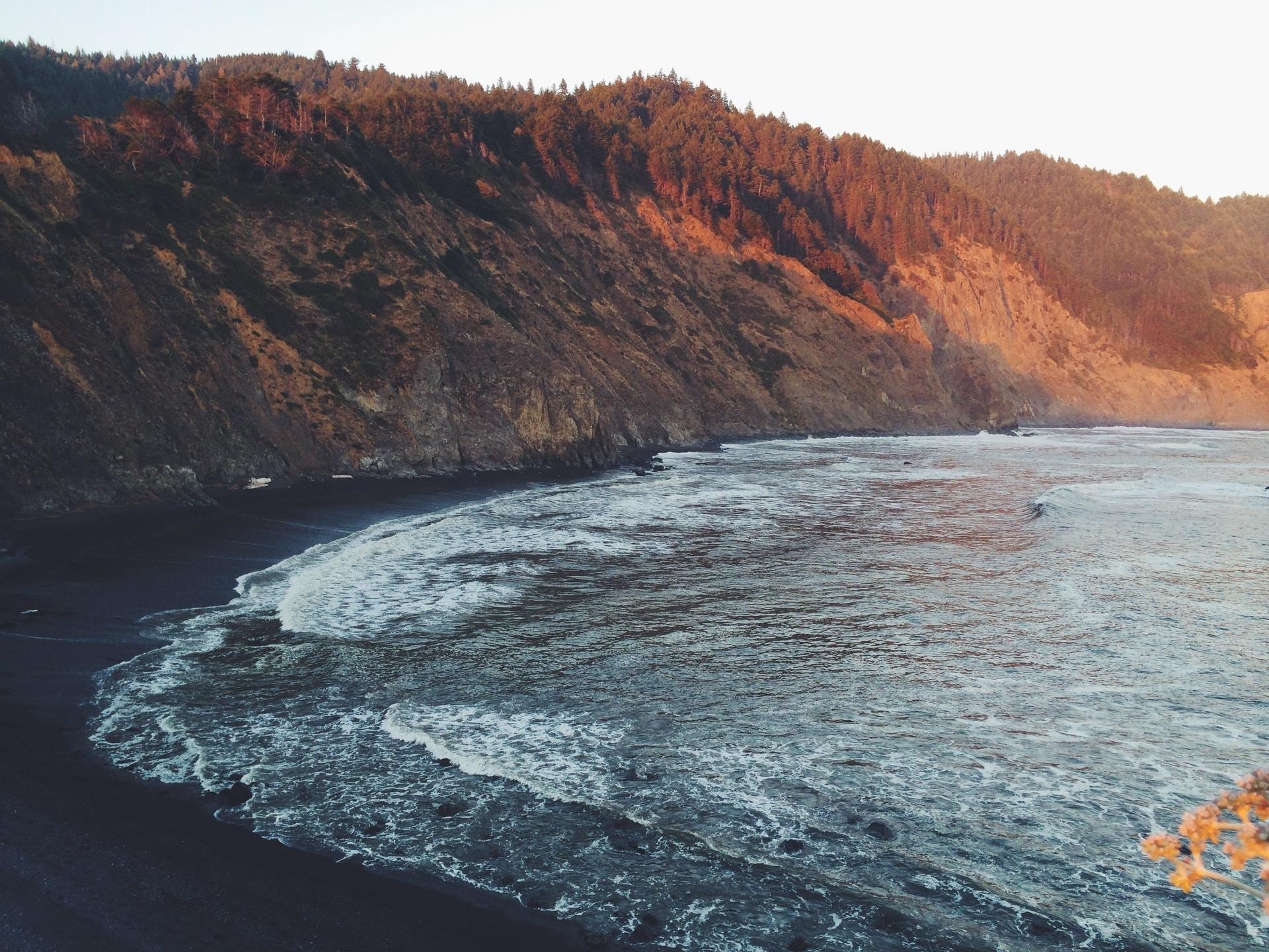 beach across the hill