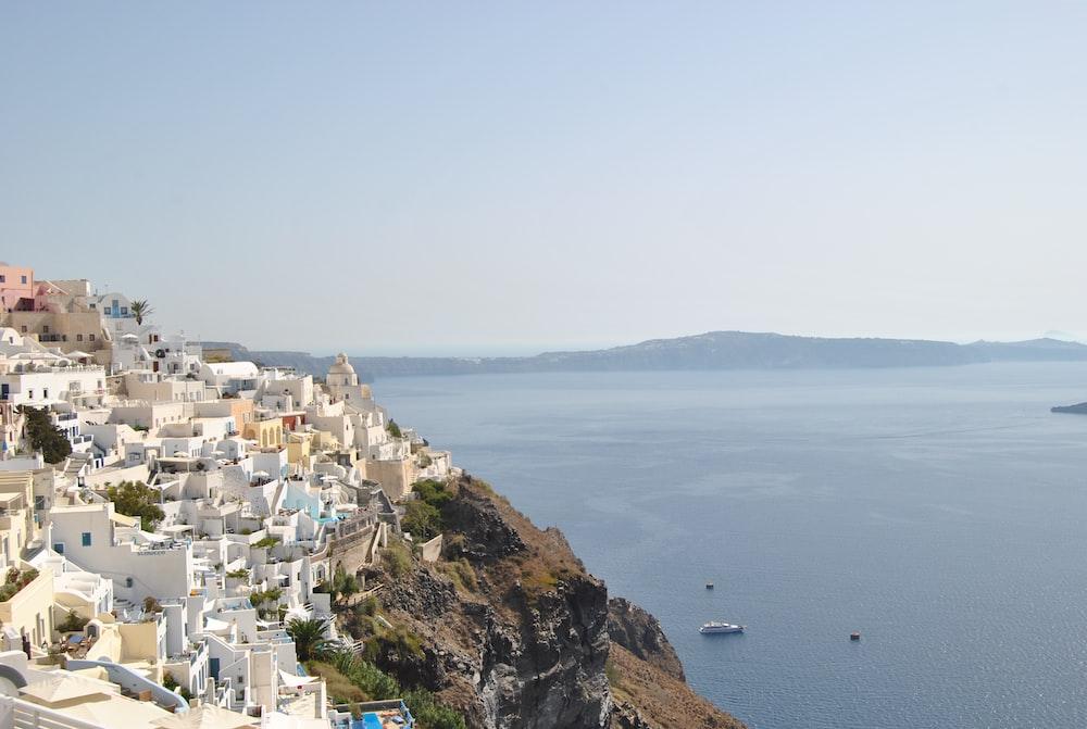 aerial photography of Santorini, Greece